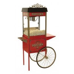 Benchmark Street Vendor 8 Popcorn Machine w/ Antique Trolly 8 oz