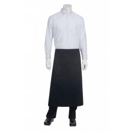 Chef Works 122ABLK0 Black 2-Pocket Bistro Apron