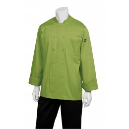 Chef Works 2833LIMM Genova Lime Chef's Coat M