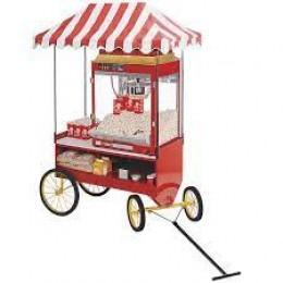 Cretors 4WSS-X Four-Wheel Steerable Red Antique Wagon Base
