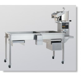 Cretor's 60oz Electric SS Kettle Salt/Sweet Switch Cooling Bin w/Fan Table Extra Shelf Oil Pump