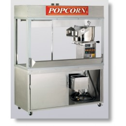 Cretors 20 oz. Enclosed President Popcorn Machine w/ 5 Ft Base