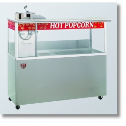 Cretors 20 oz. Open Top President Popcorn Machine w/ 5 Ft Base