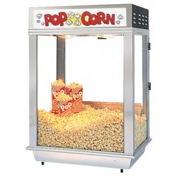 Gold Medal 2025ST Citation Staging Popcorn Cabinet Stainless Steel