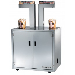 Gold Medal 2396-00-120 Single-Head Butter Topping Dispenser Enclosed Cabinet with Casters