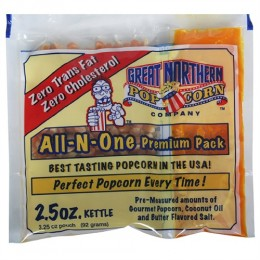 Great Northern 4099 Portion 2.5 oz Popcorn Packs 24/CS