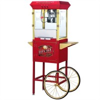 Great Northern 6030 Princeton Popcorn Machine w/Cart Red 8oz