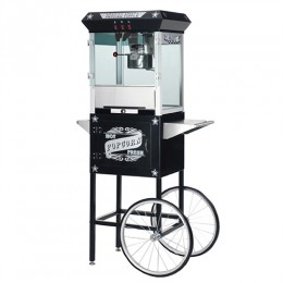 Great Northern 6035 Paducah Popcorn Machine/Cart Black 8oz