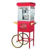 Great Northern 6040 Pasadena 8oz Popcorn Machine/Cart Red