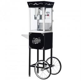 Great Northern 6084 Matinee Movie Popcorn Machine w/Cart Black 8oz