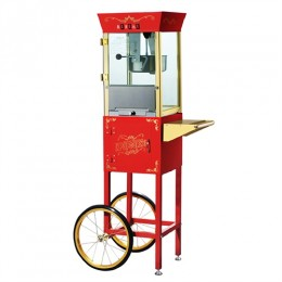 Great Northern 6086 Matinee Movie Popcorn Machine w/Cart Red 8oz