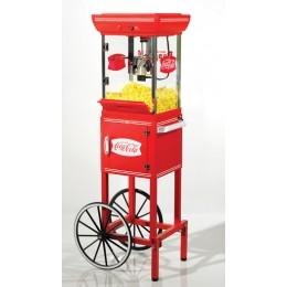 Nostalgia CCP399COKE Coca-Cola Old Fashioned Popper w/ Cart 2.5 oz