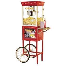 Nostalgia CCP610 Vintage Old Fashioned Movie Time 6oz Popcorn Cart