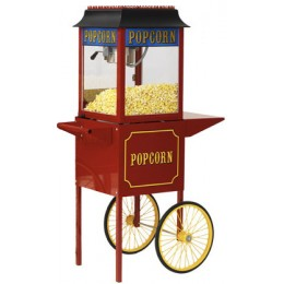 Paragon 1911 4oz Popcorn Machine w/ Cart Red