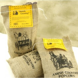 Wabash 41406 Amish Popcorn Burlap Bag Big & Yellow 2lb