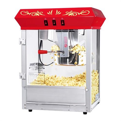 Great Northern 6128 All Star 8oz Popcorn Machine Cart Red